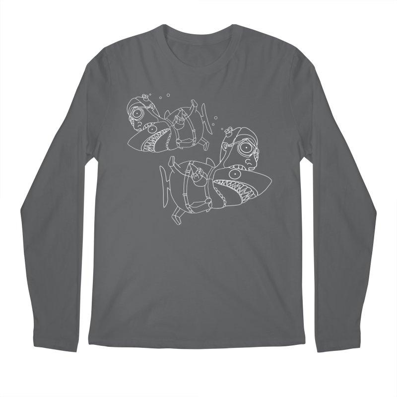 Man Sharks Men's Regular Longsleeve T-Shirt by KAUFYSHOP