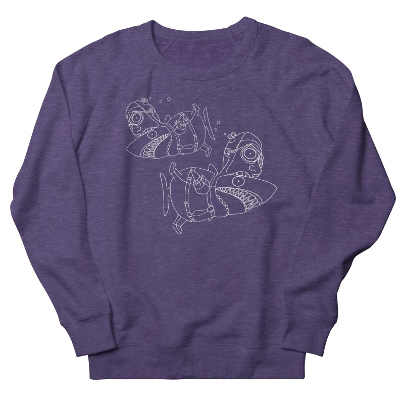 Man Sharks Women's French Terry Sweatshirt by KAUFYSHOP