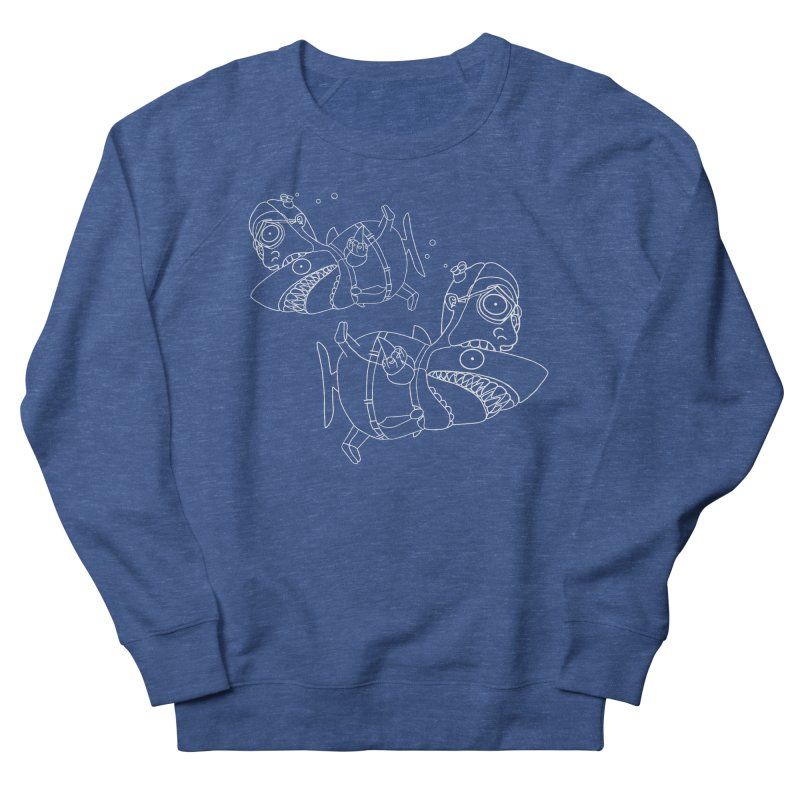 Man Sharks Men's French Terry Sweatshirt by KAUFYSHOP