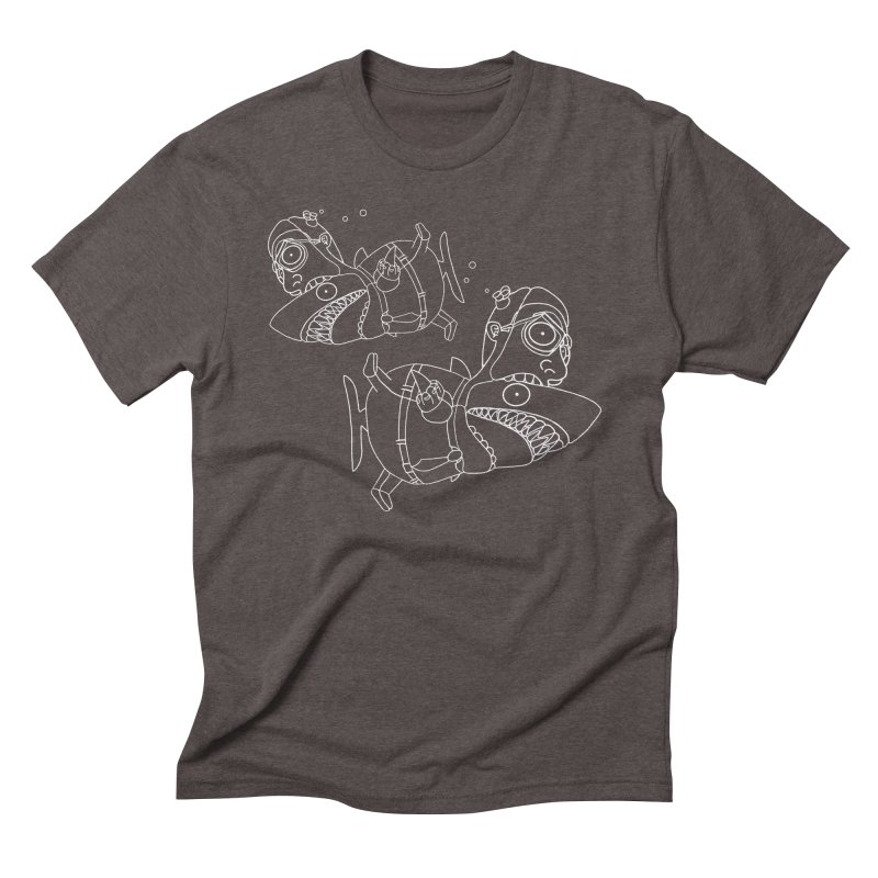 Man Sharks Men's Triblend T-Shirt by KAUFYSHOP