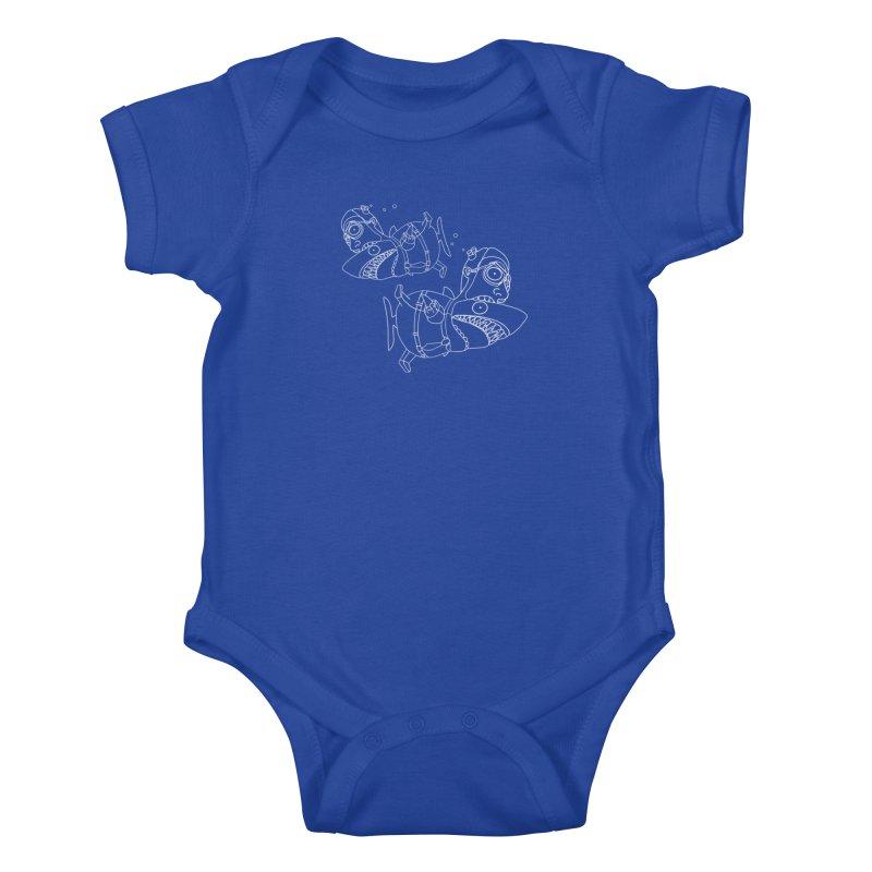 Man Sharks Kids Baby Bodysuit by KAUFYSHOP