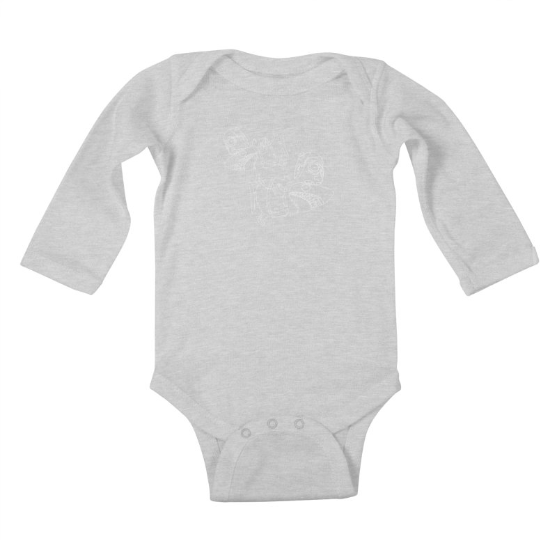 Man Sharks Kids Baby Longsleeve Bodysuit by KAUFYSHOP