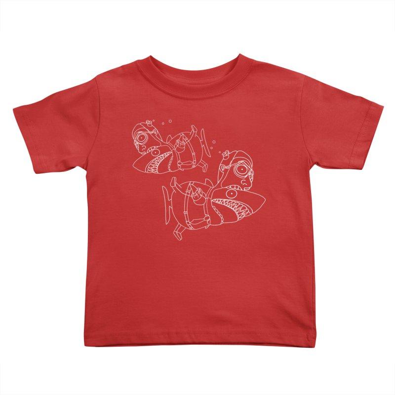 Man Sharks Kids Toddler T-Shirt by KAUFYSHOP