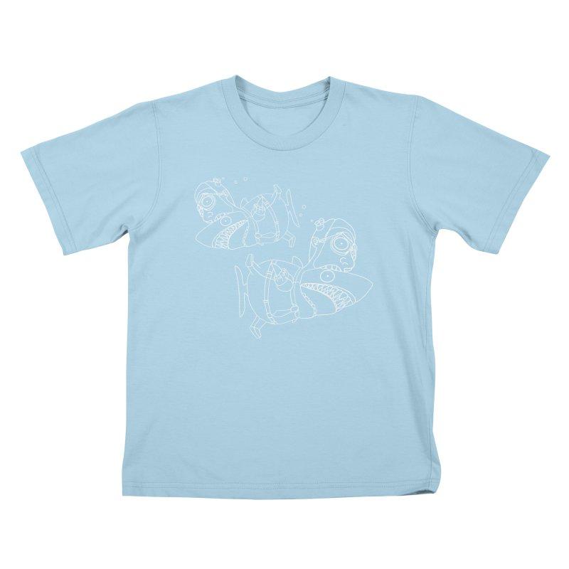 Man Sharks Kids T-Shirt by KAUFYSHOP