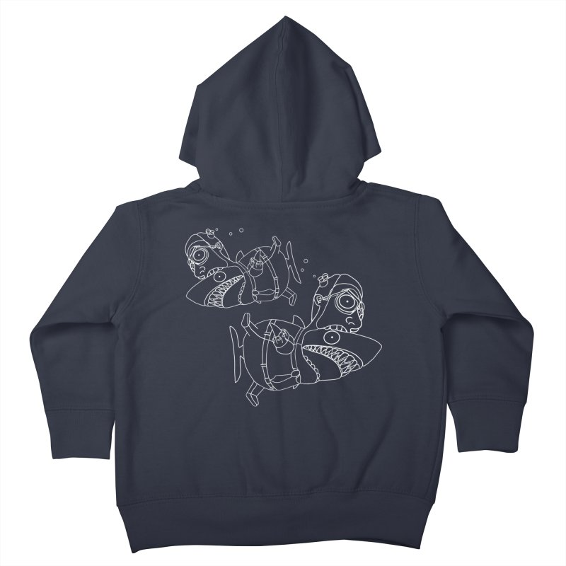 Man Sharks Kids Toddler Zip-Up Hoody by KAUFYSHOP