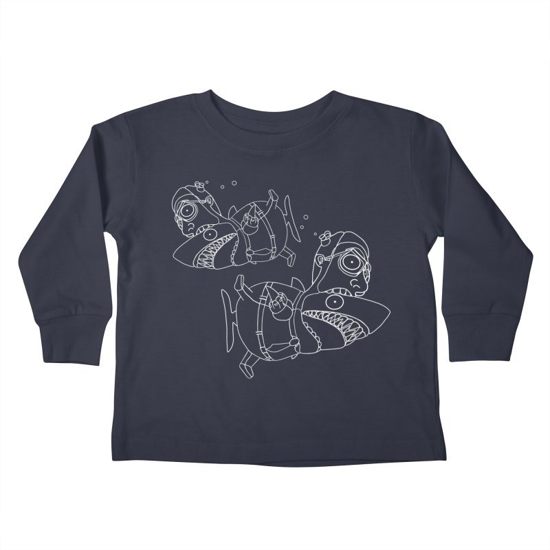 Man Sharks Kids Toddler Longsleeve T-Shirt by KAUFYSHOP