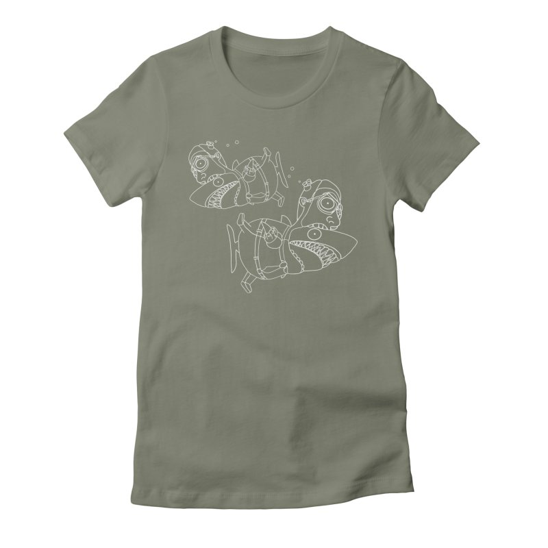 Man Sharks Women's Fitted T-Shirt by KAUFYSHOP