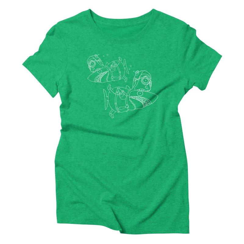 Man Sharks Women's Triblend T-Shirt by KAUFYSHOP