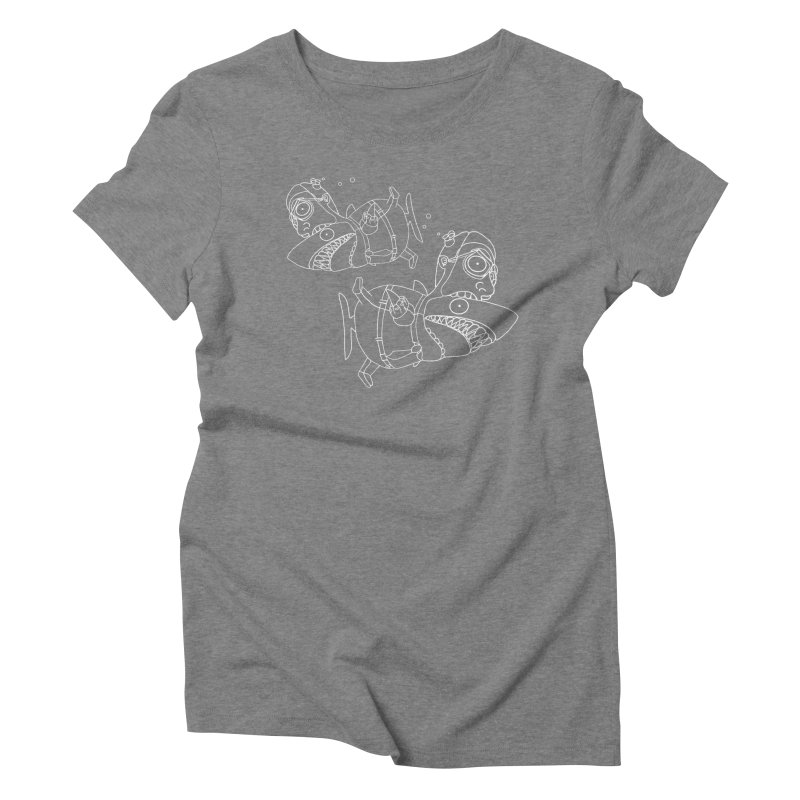 Man Sharks Women's Triblend T-Shirt by KAUFYSHOP