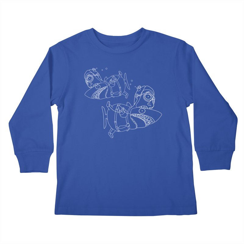 Man Sharks Kids Longsleeve T-Shirt by KAUFYSHOP
