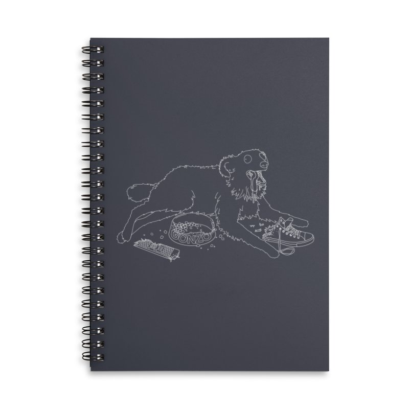 Gonzo Accessories Lined Spiral Notebook by KAUFYSHOP