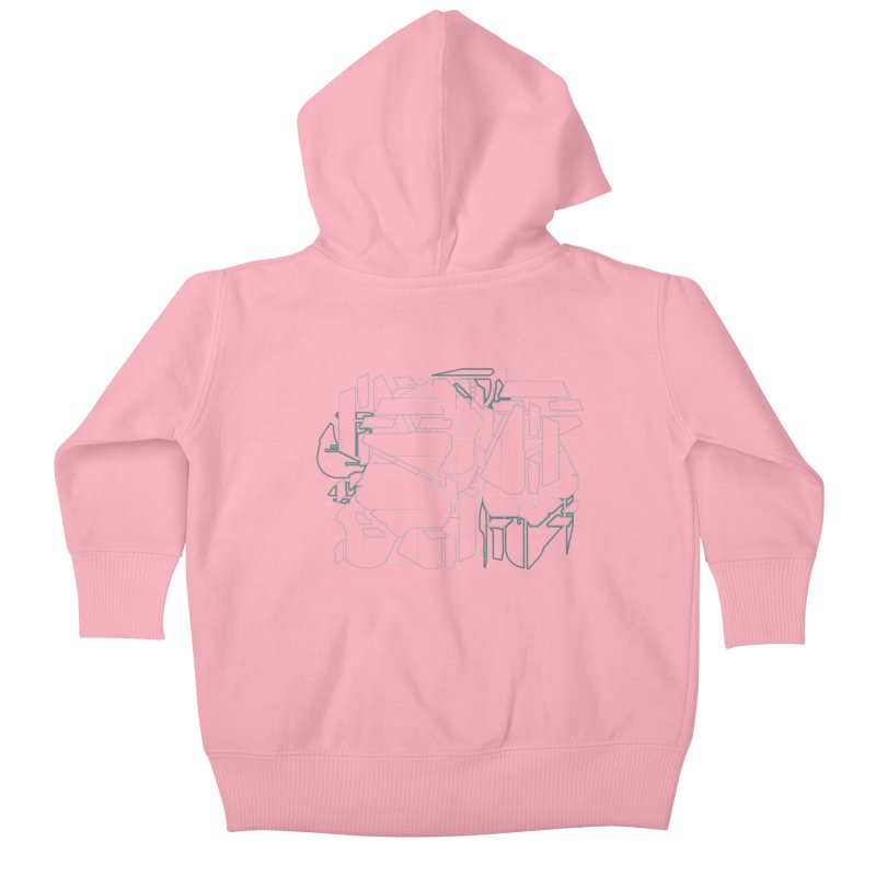 Design 08 Kids Baby Zip-Up Hoody by KAUFYSHOP