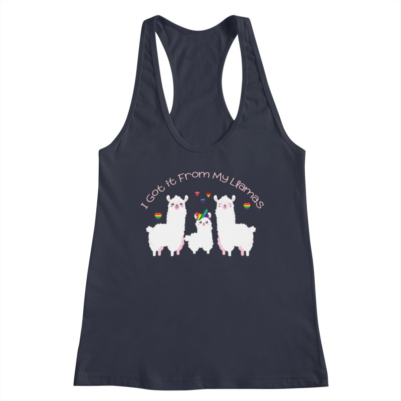 I Got it From my Llamas LGBTQ Inclusive Family - Hairbow Women's Tank by Visit kawaeetee.com for more!