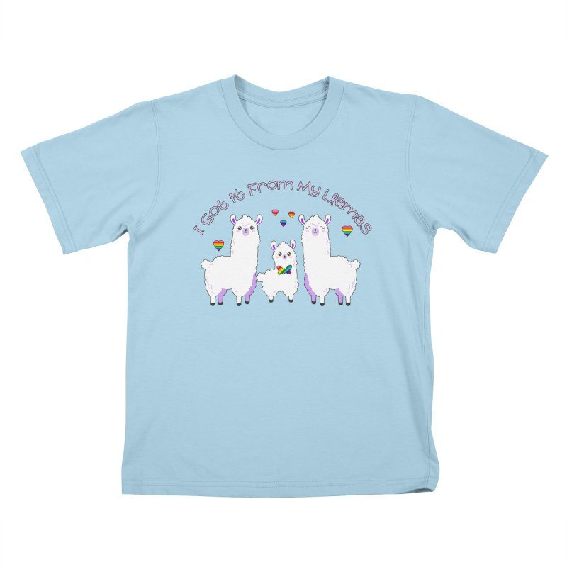 I Got it From my Llamas LGBTQ Inclusive Family - Bowtie Kids T-Shirt by Visit kawaeetee.com for more!