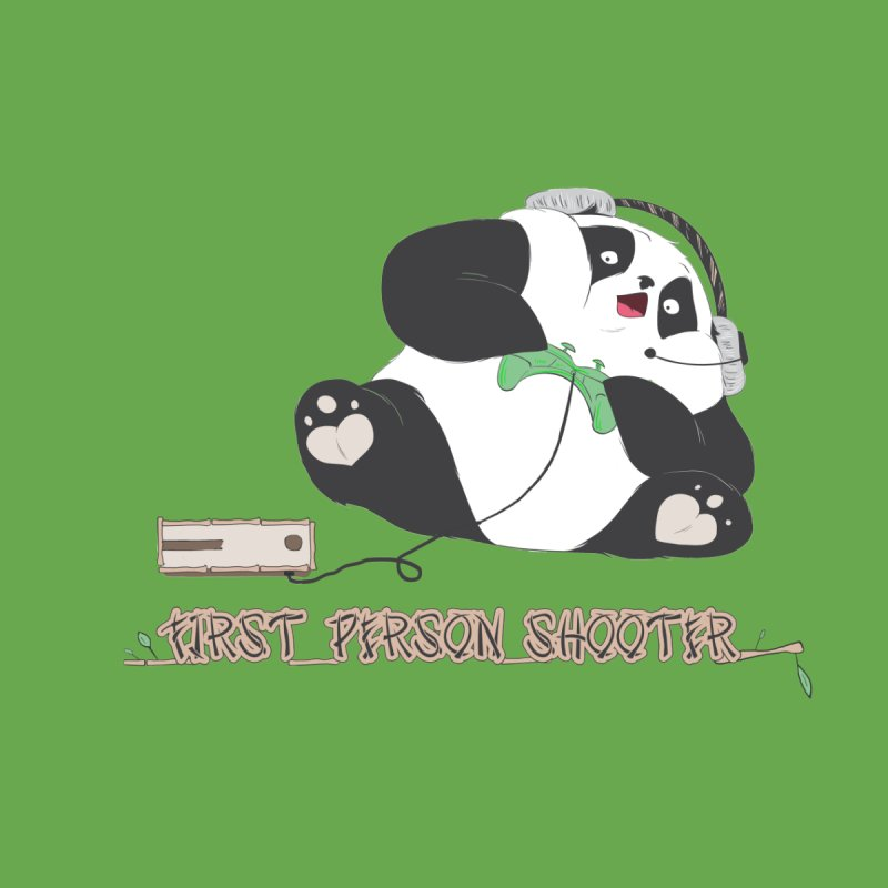 First Person Shooter Cute Panda Gamer by Kawaee Tee's Shop