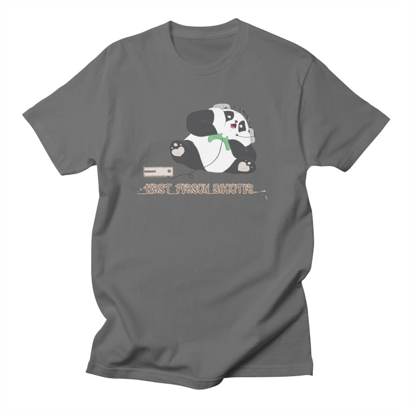 First Person Shooter Cute Panda Gamer Men's T-Shirt by Visit kawaeetee.com for more!