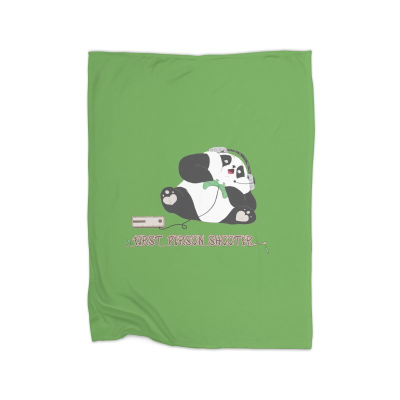 First Person Shooter Cute Panda Gamer Home Blanket by Visit kawaeetee.com for more!