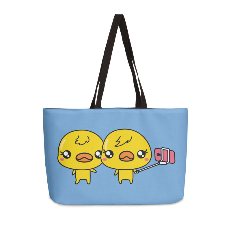 Social Animals - Cute Duck Face Selfie Stick Accessories Bag by Visit kawaeetee.com for more!