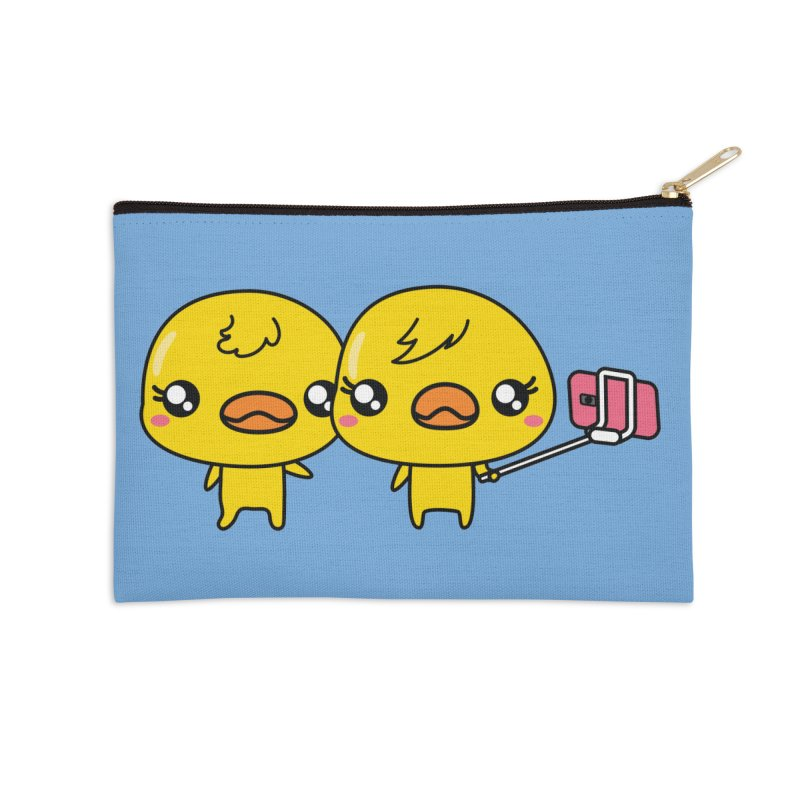 Social Animals - Cute Duck Face Selfie Stick Accessories Zip Pouch by Visit kawaeetee.com for more!