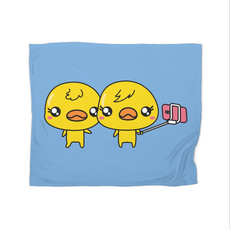 Social Animals - Cute Duck Face Selfie Stick Home Blanket by Visit kawaeetee.com for more!