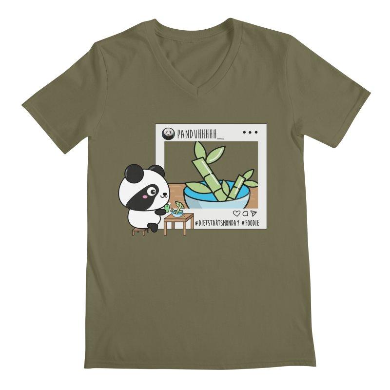 Social Animals - Giant Panda Men's V-Neck by Visit kawaeetee.com for more!