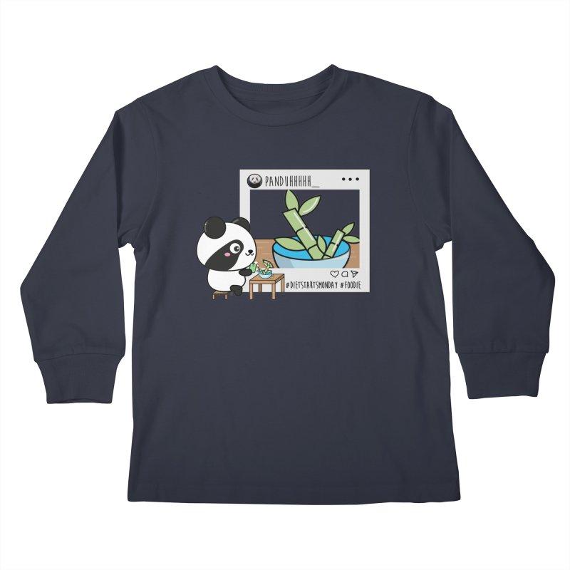 Social Animals - Giant Panda Kids Longsleeve T-Shirt by Visit kawaeetee.com for more!