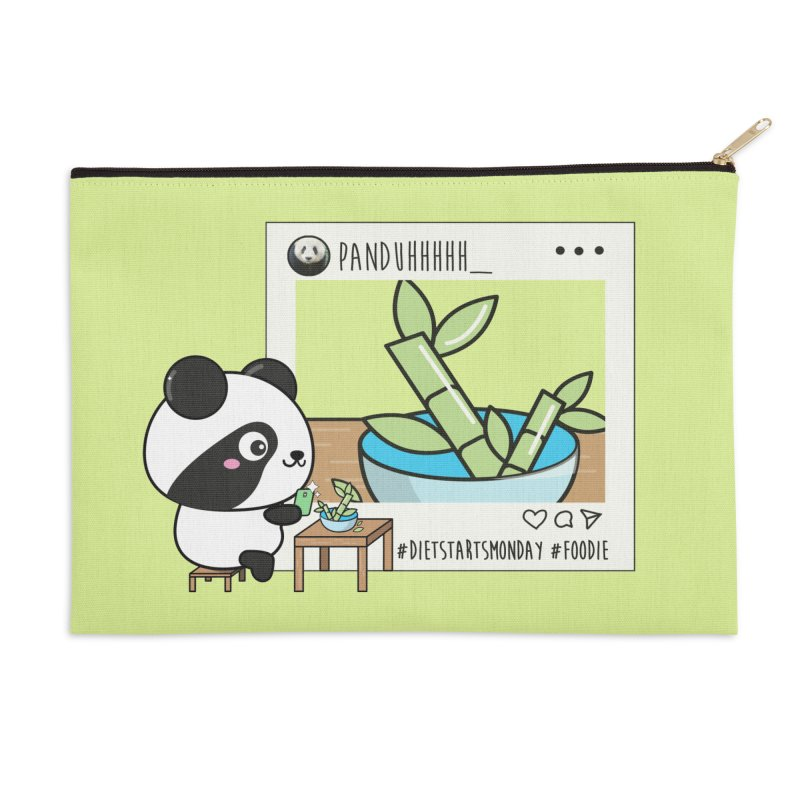 Social Animals - Giant Panda Accessories Zip Pouch by Visit kawaeetee.com for more!