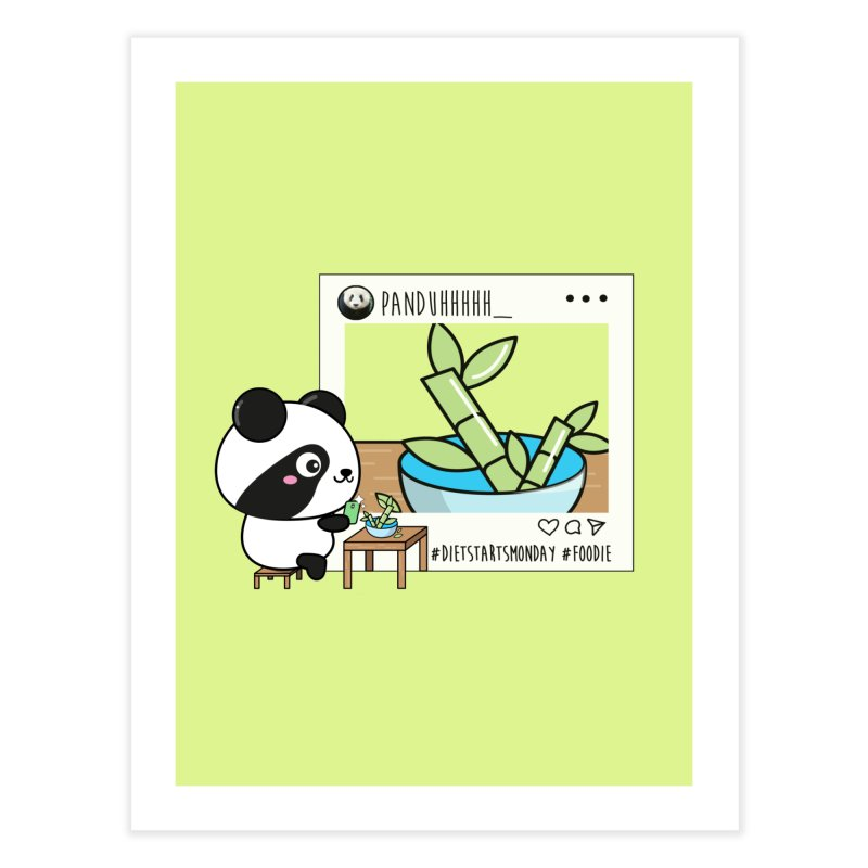 Social Animals - Giant Panda Home Fine Art Print by Visit kawaeetee.com for more!