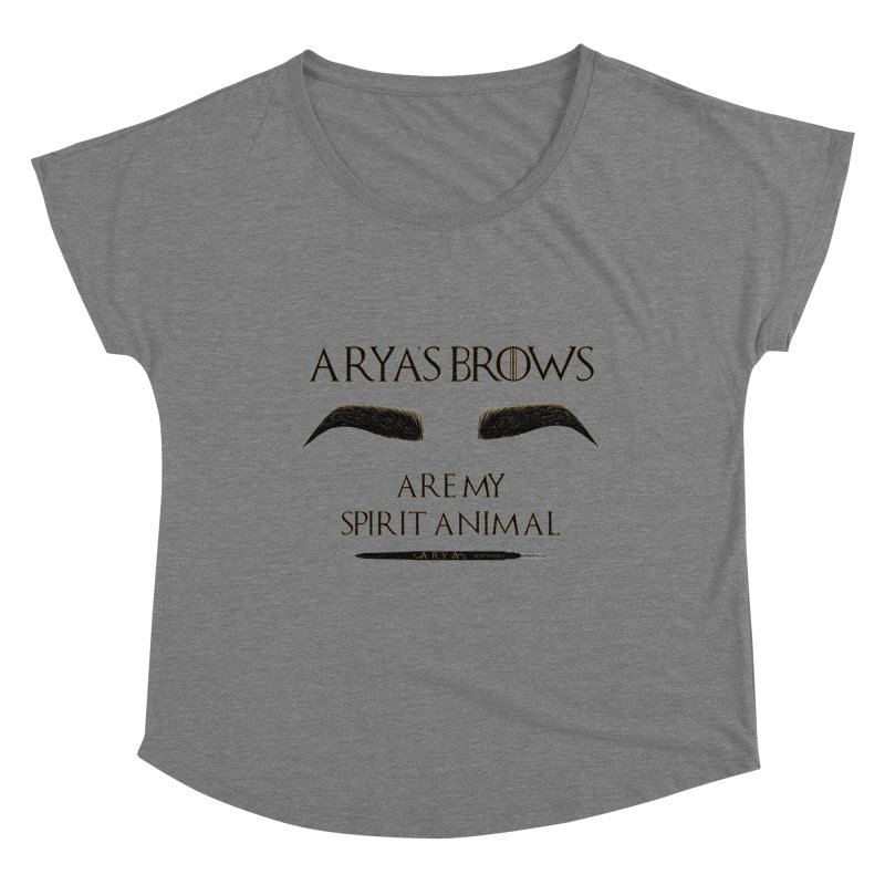 Arya's Brows are My Spirit Animal Women's Scoop Neck by Visit kawaeetee.com for more!