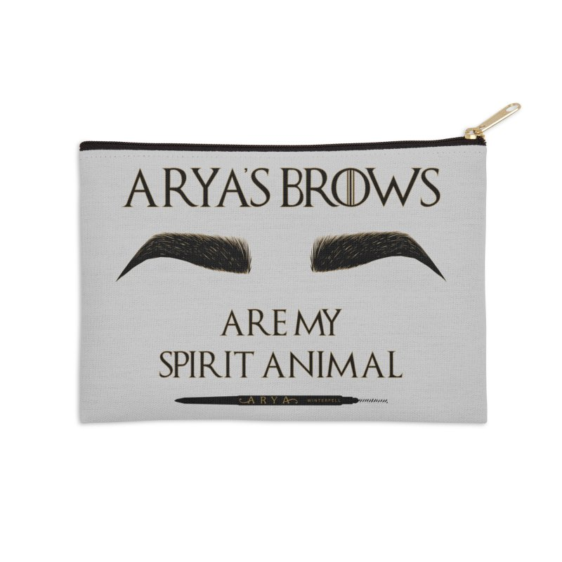 Arya's Brows are My Spirit Animal Accessories Zip Pouch by Visit kawaeetee.com for more!