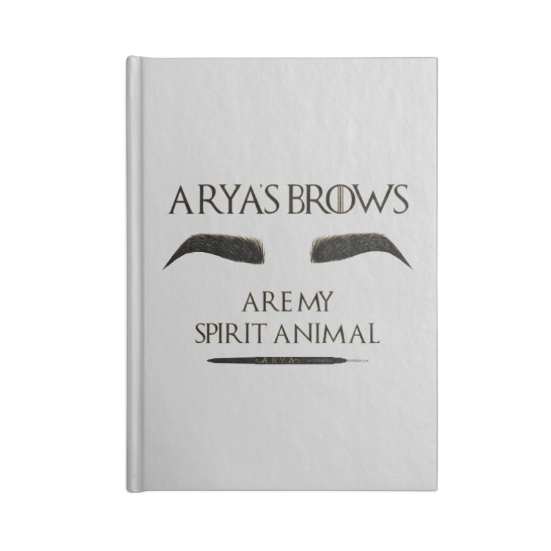 Arya's Brows are My Spirit Animal Accessories Notebook by Visit kawaeetee.com for more!