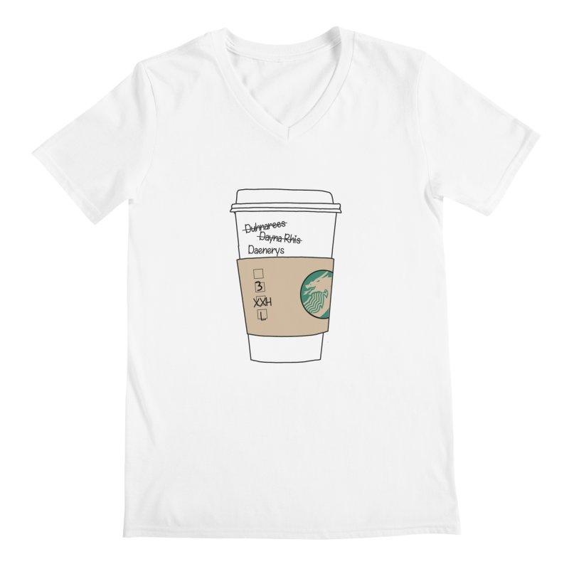 Daenerys Targaryen Starbucks Game of Thrones Men's V-Neck by Visit kawaeetee.com for more!