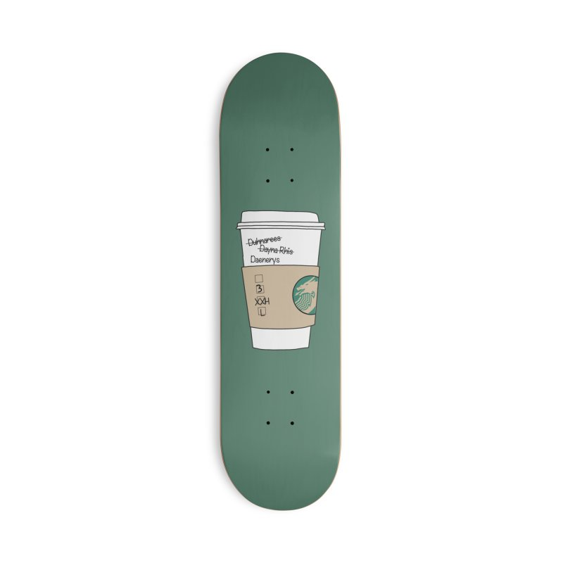Daenerys Targaryen Starbucks Game of Thrones Accessories Skateboard by Visit kawaeetee.com for more!