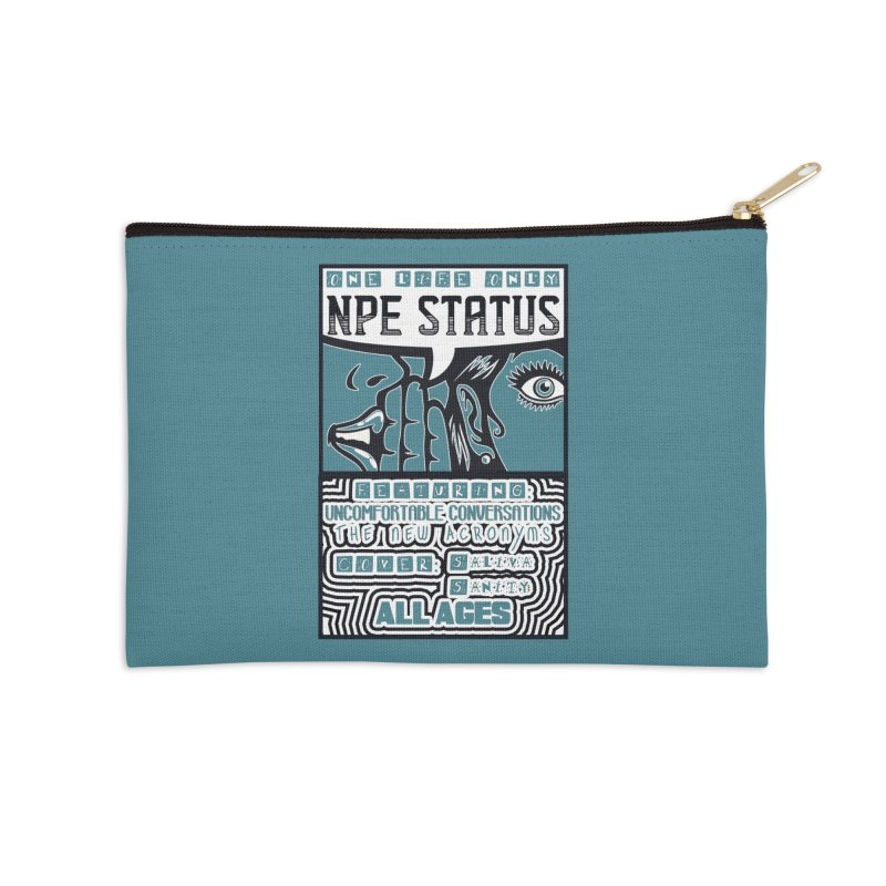 NPE Status Retro Band Tee Accessories Zip Pouch by Visit kawaeetee.com for more!