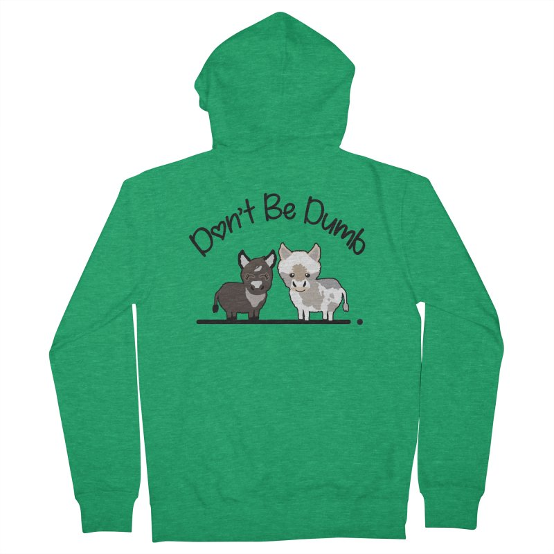 Don't be Dumb Asses. Men's Zip-Up Hoody by Visit kawaeetee.com for more!