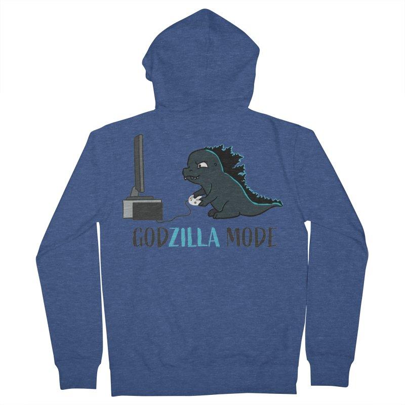 Godzilla Mode Gamer Men's Zip-Up Hoody by Visit kawaeetee.com for more!