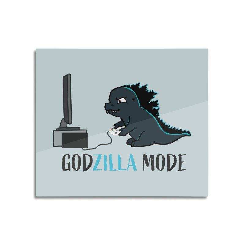 Godzilla Mode Gamer Home Mounted Acrylic Print by Visit kawaeetee.com for more!