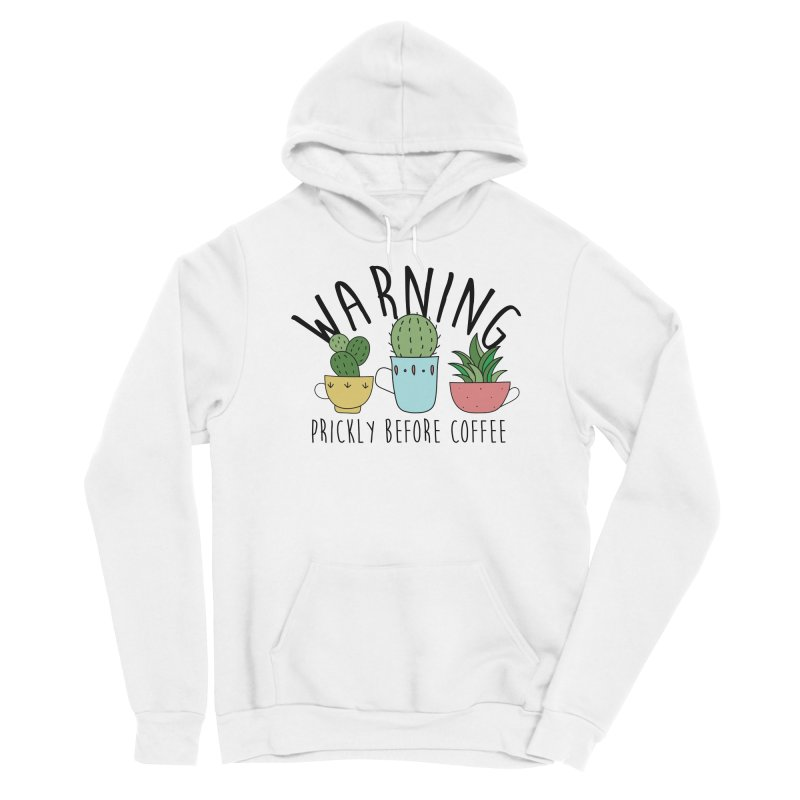 Warning: Prickly Before Coffee Kawaii Cactus Teacups Men's Pullover Hoody by Visit kawaeetee.com for more!