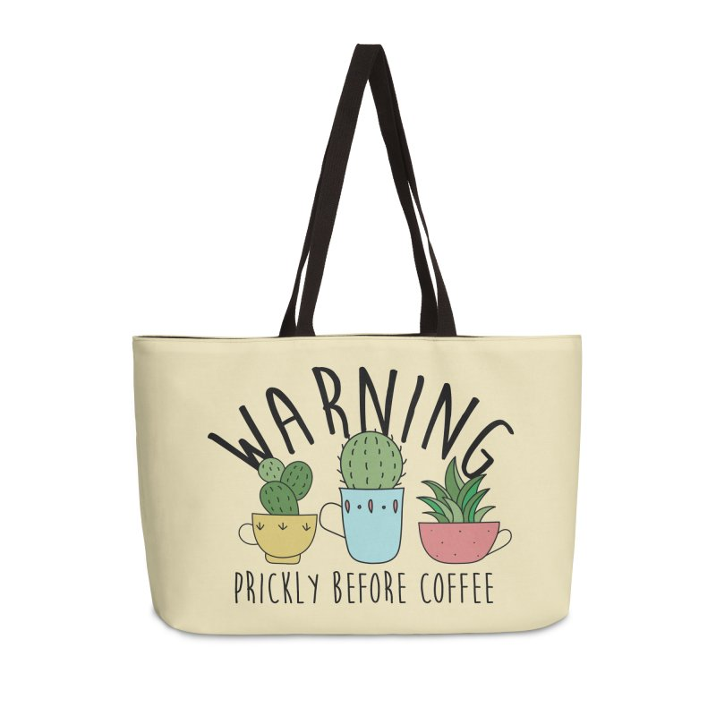 Warning: Prickly Before Coffee Kawaii Cactus Teacups Accessories Bag by Visit kawaeetee.com for more!