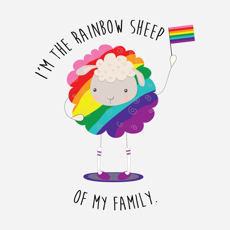I'm the Rainbow Sheep of My Family LGBTQ+ Pride Accessories Skateboard by Visit kawaeetee.com for more!