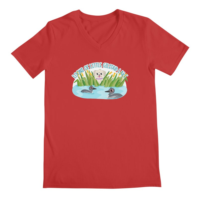 Loons of Little Gilstad Lake Men's V-Neck by Visit kawaeetee.com for more!