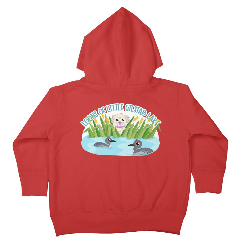 Loons of Little Gilstad Lake Kids Toddler Zip-Up Hoody by Visit kawaeetee.com for more!