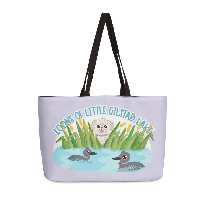 Loons of Little Gilstad Lake Accessories Bag by Visit kawaeetee.com for more!