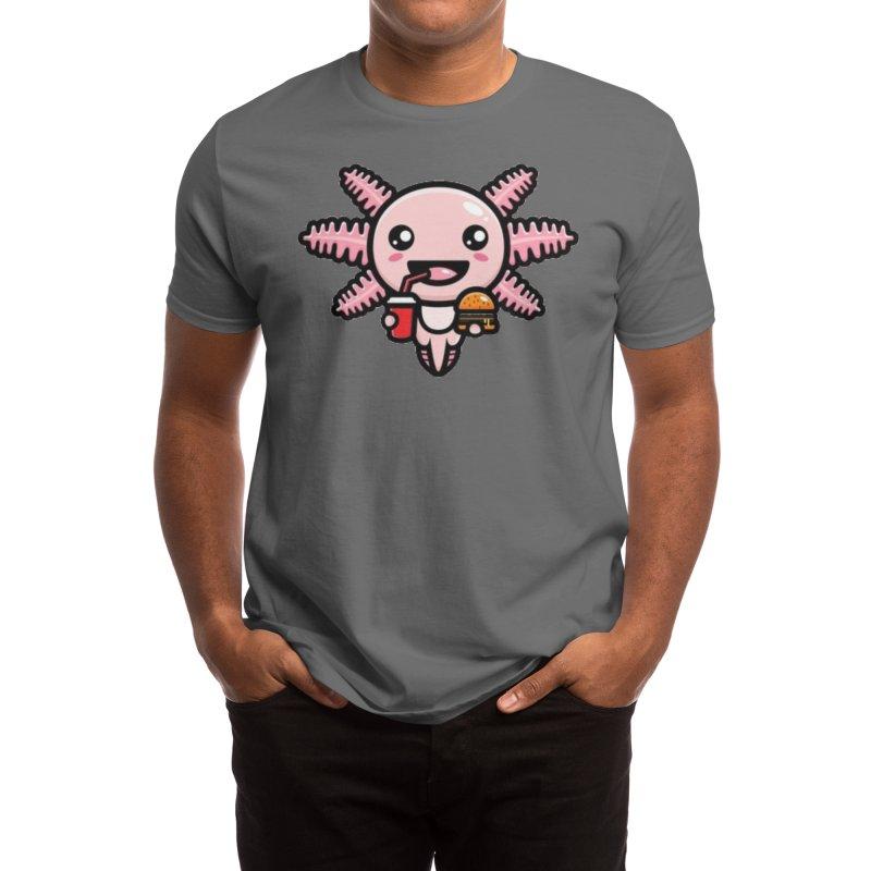 Fast Food Axolotl Men's T-Shirt by kawaiistudio's Artist Shop