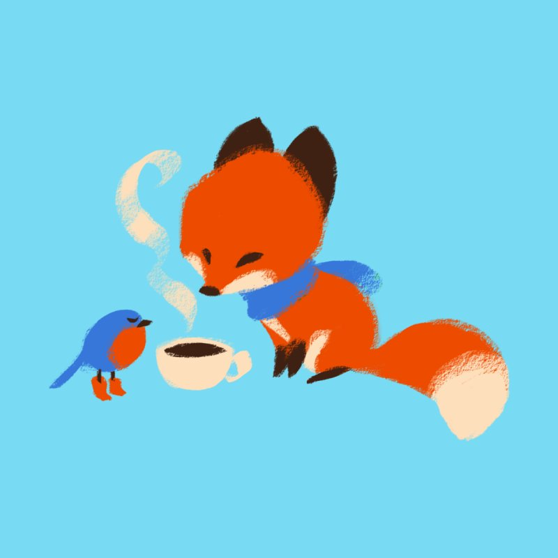 Fox & Boots: Tea Time by kayjkay's Artist Shop