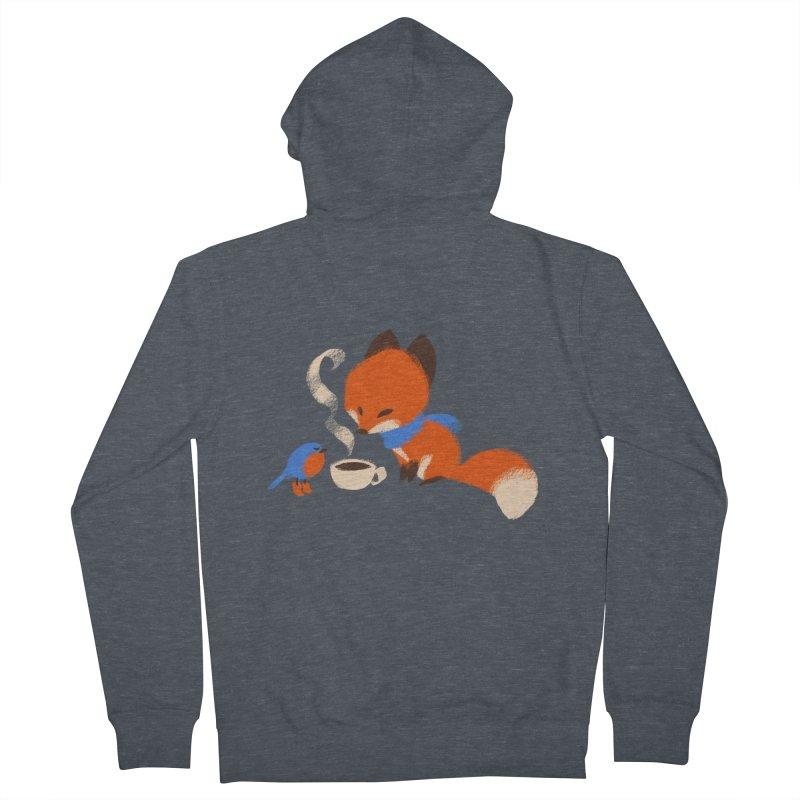 Fox & Boots: Tea Time Men's Zip-Up Hoody by kayjkay's Artist Shop