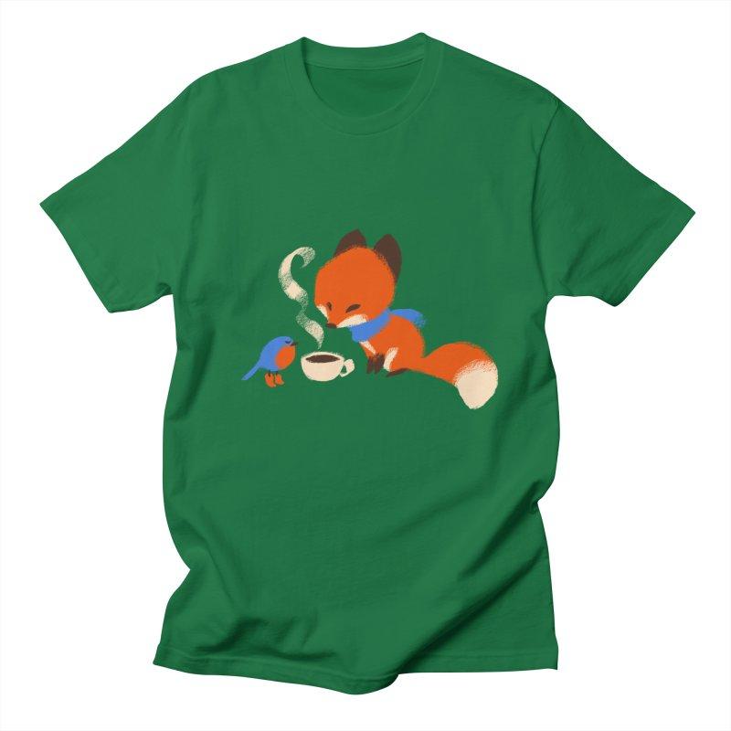 Fox & Boots: Tea Time Men's T-Shirt by kayjkay's Artist Shop