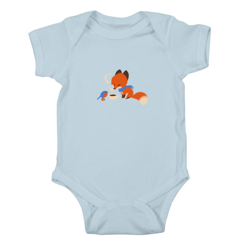 Fox & Boots: Tea Time Kids Baby Bodysuit by kayjkay's Artist Shop