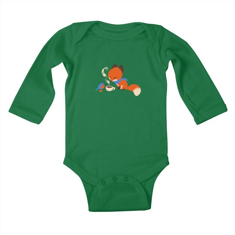Fox & Boots: Tea Time Kids Baby Longsleeve Bodysuit by kayjkay's Artist Shop