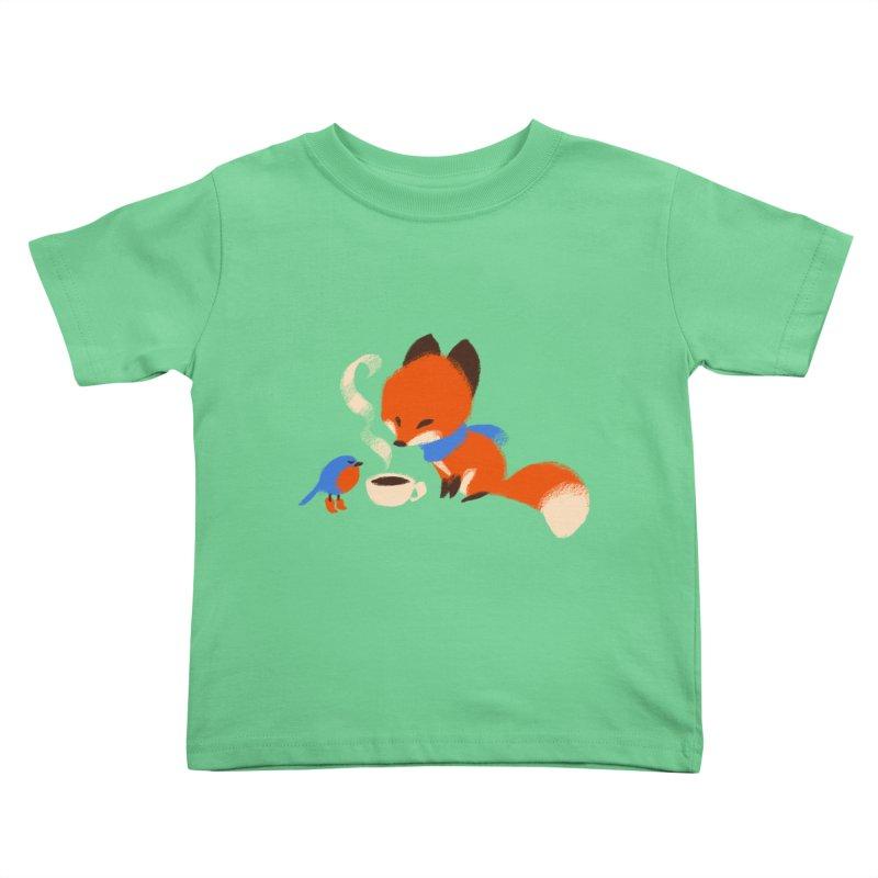 Fox & Boots: Tea Time Kids Toddler T-Shirt by kayjkay's Artist Shop